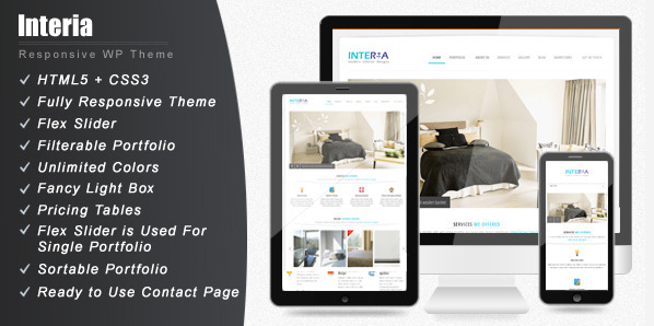 interia wordpress theme for interior designers