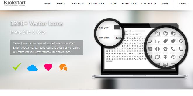kickstart full screen business wordpress theme