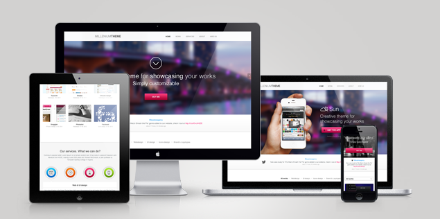 millienium one page wordpress theme