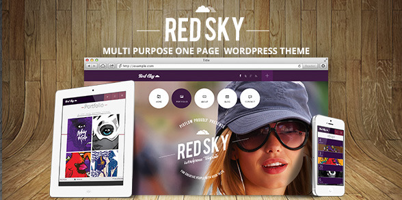 multi purpose single landing page wordpress theme