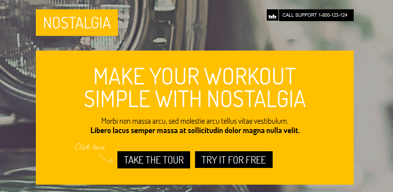 nostalgia full screen business wordpress theme