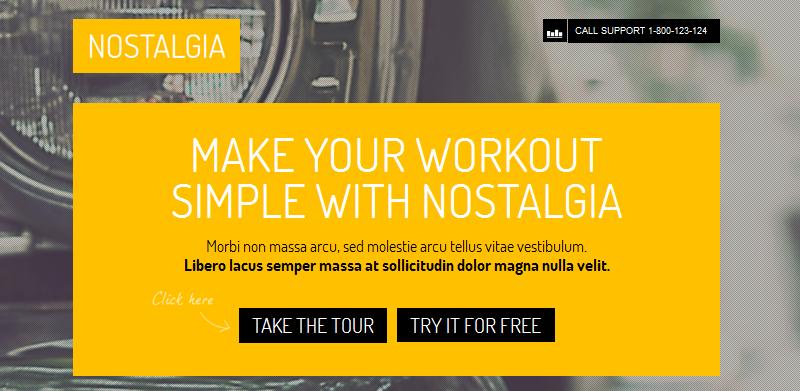 nostalgia full screen business wordpress theme