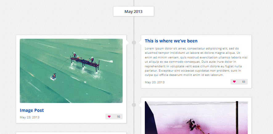 one page facebook style wordpress theme