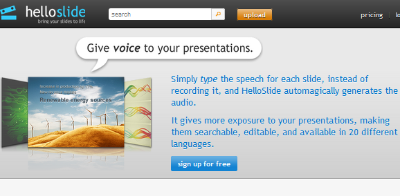 online presentation tool with voice