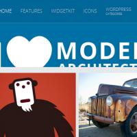 pinterest  wordpress theme with fixed header