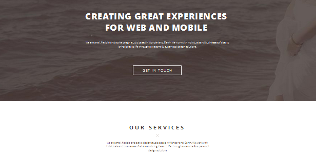 portfolio one page wordpress theme