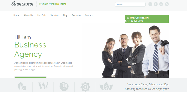 responsive one page wordpress theme