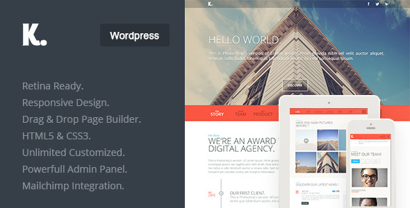 responsive one page wordpress themes