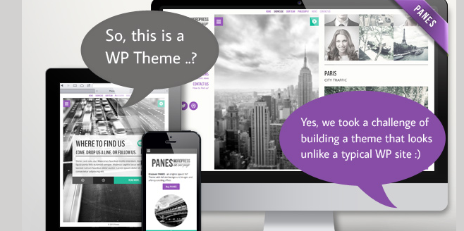 retina ready one page wordpress theme