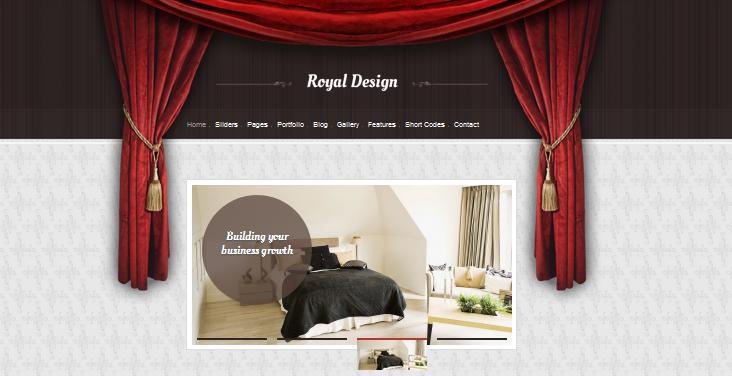 royal design wordpress theme for interior designers