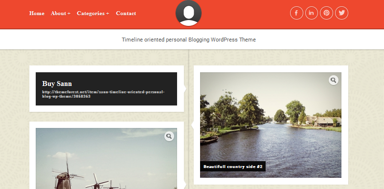 san facebook style wordpress theme