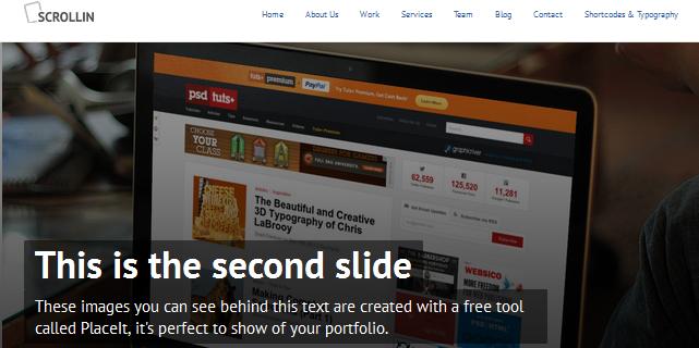 scrollin full screen business wordpress theme