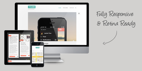 thumb retina responsive wordpress theme