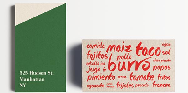 trendy business card design 1