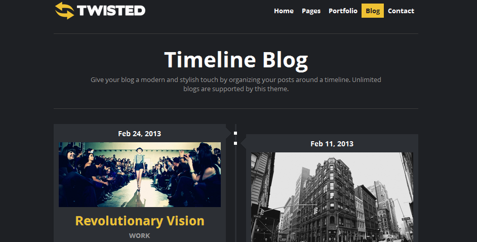 twisted facebook style wordpress theme