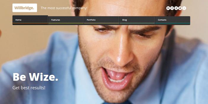 willbridge full screen business wordpress theme
