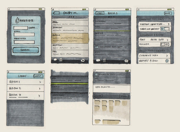 wireframe & mockup sketches 02