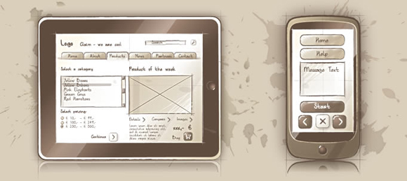 wireframe & mockup sketches 03