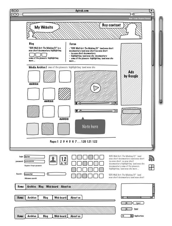wireframe & mockup sketches 06
