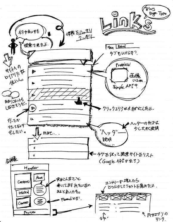 wireframe & mockup sketches 10