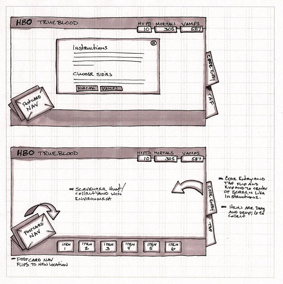 wireframe & mockup sketches 11