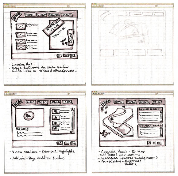 wireframe & mockup sketches 12