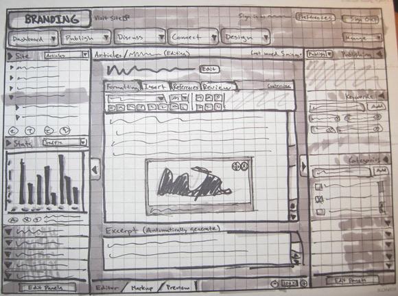 wireframe & mockup sketches 13