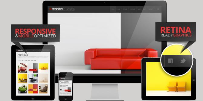 wordpress theme for interior designers