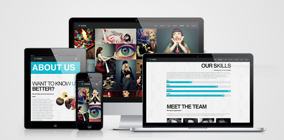 xiara one page wordpress theme