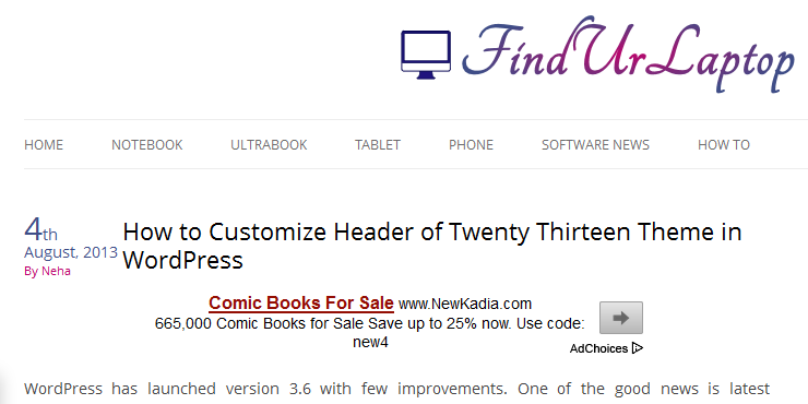 how to customize twenty thirteen theme 1