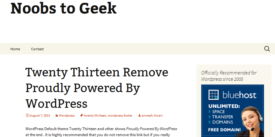 how to customize twenty thirteen theme 5