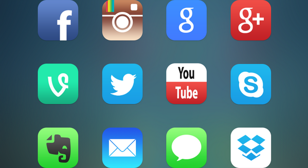 latest social media icons 13
