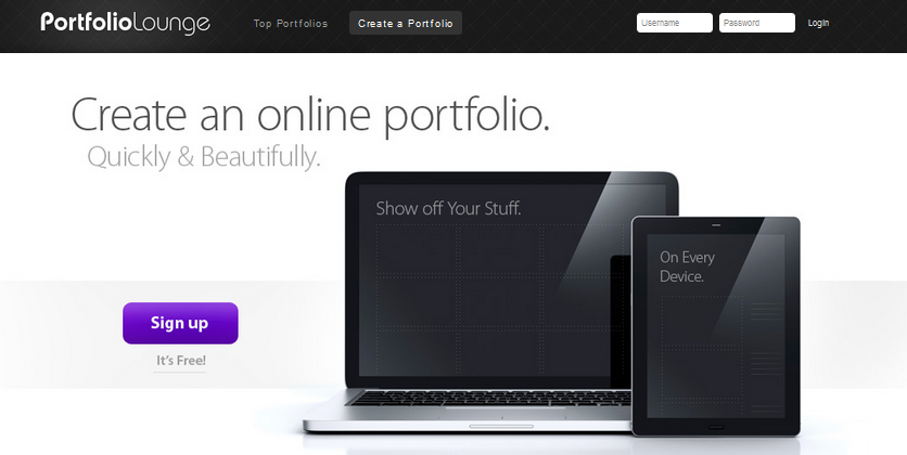 online portfolio builder 2013 9