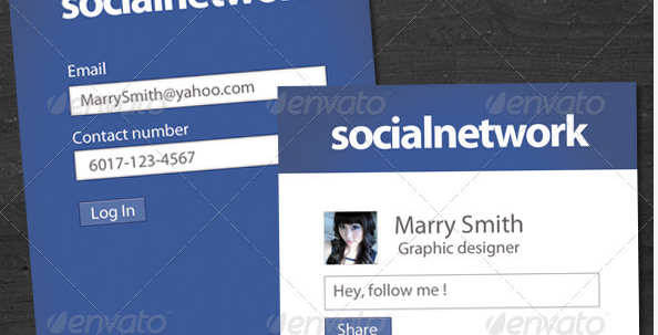 social media business cards design 11