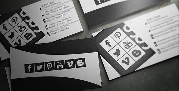 social media business cards design 12