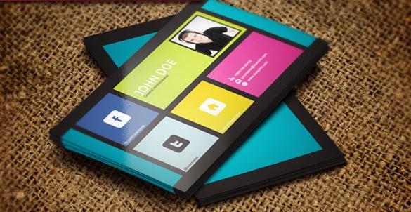 social media business cards design 14