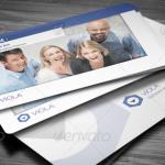 social media business cards design 3