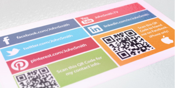 social media business cards design 4