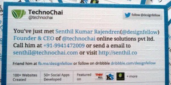 social media business cards design 5