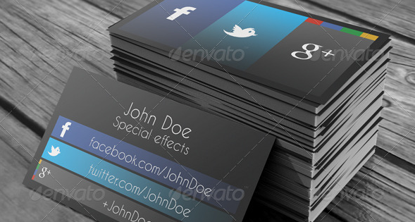 social media business cards design 9