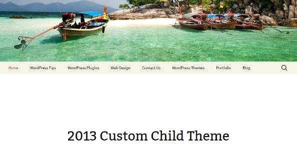 twenty thirteen child theme 5