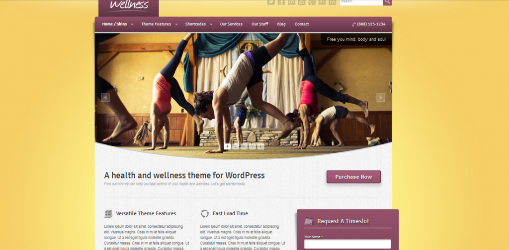 wordpress theme for yoga teacher 3