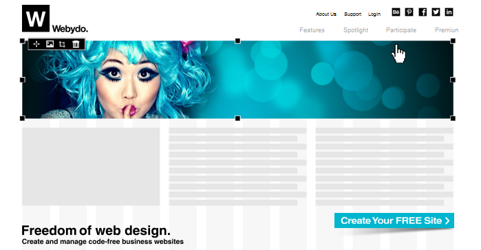 Webydo website creator