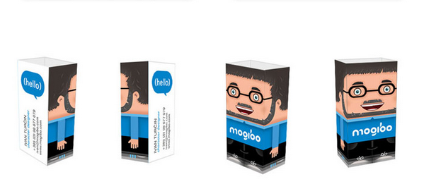 business card with headshots 10