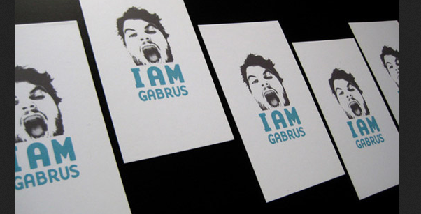 business card with headshots 11