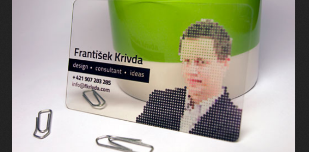 business card with headshots 12