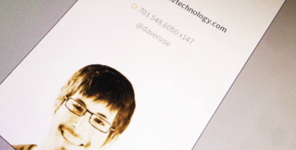 business card with headshots 6
