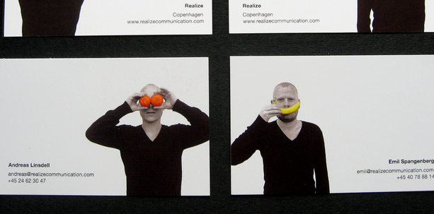 business card with headshots 9
