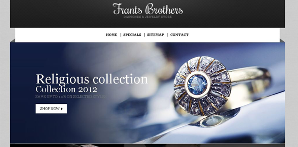 jewellery ecommerce website design inspiration 4