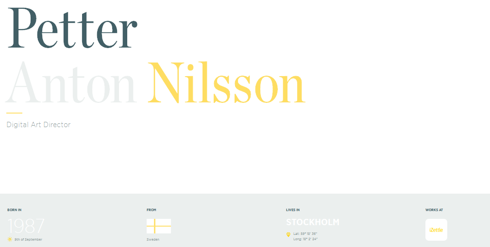 personal homepage design inspiration 3